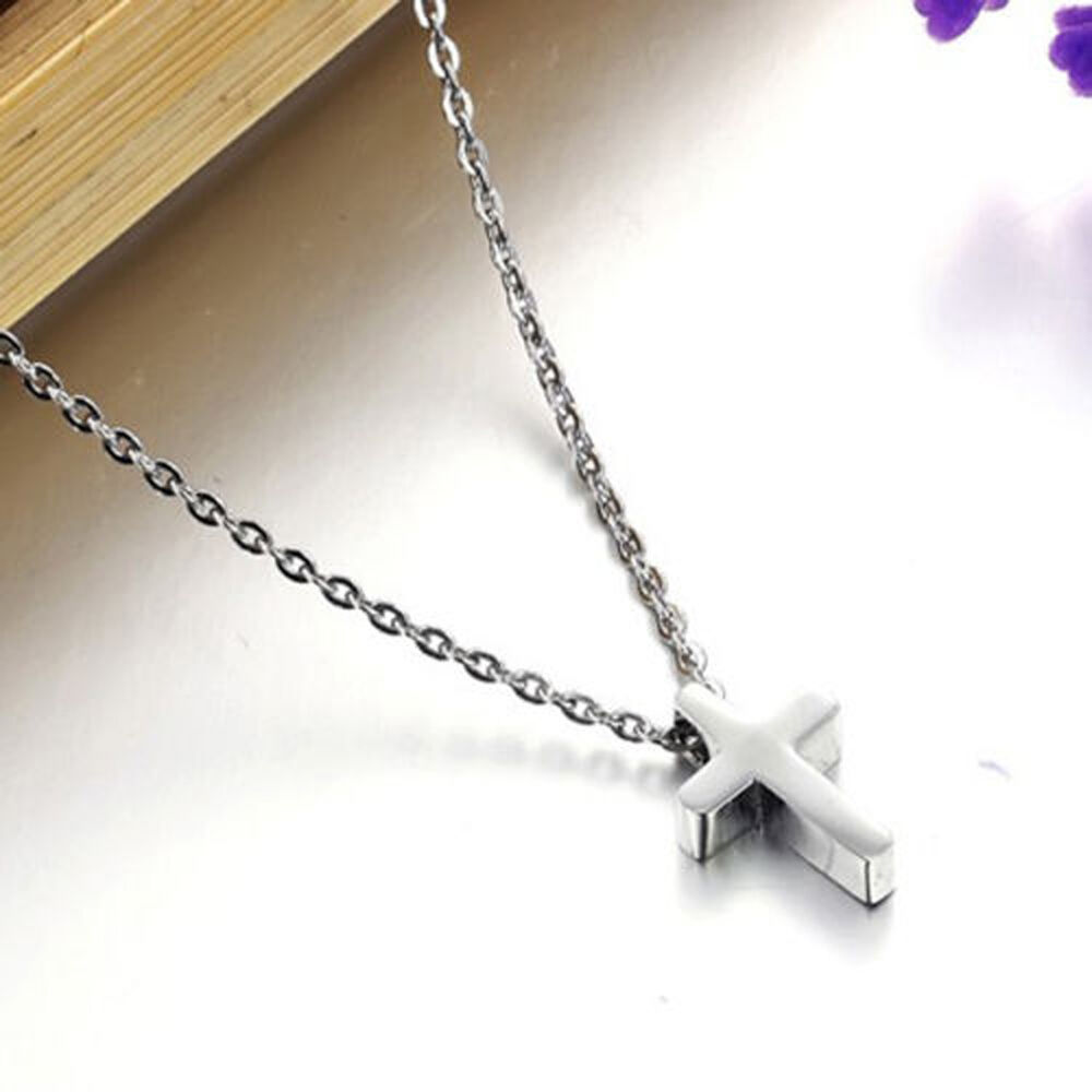 Simple Small Silver Cross Pendant Stainless Steel Quality ...