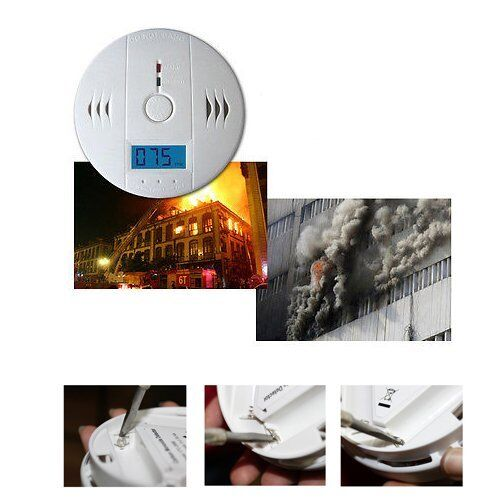 kohlenmonoxid co melder warnung alarm detector rauchmelder brandmelder gasmelder ebay. Black Bedroom Furniture Sets. Home Design Ideas