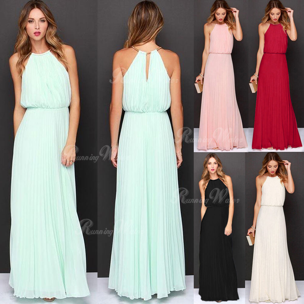 womens formal long chiffon prom evening party bridesmaid