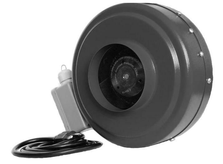 Inline Exhaust Blowers : New quot inch inline hydroponic duct fan exhaust blower ebay