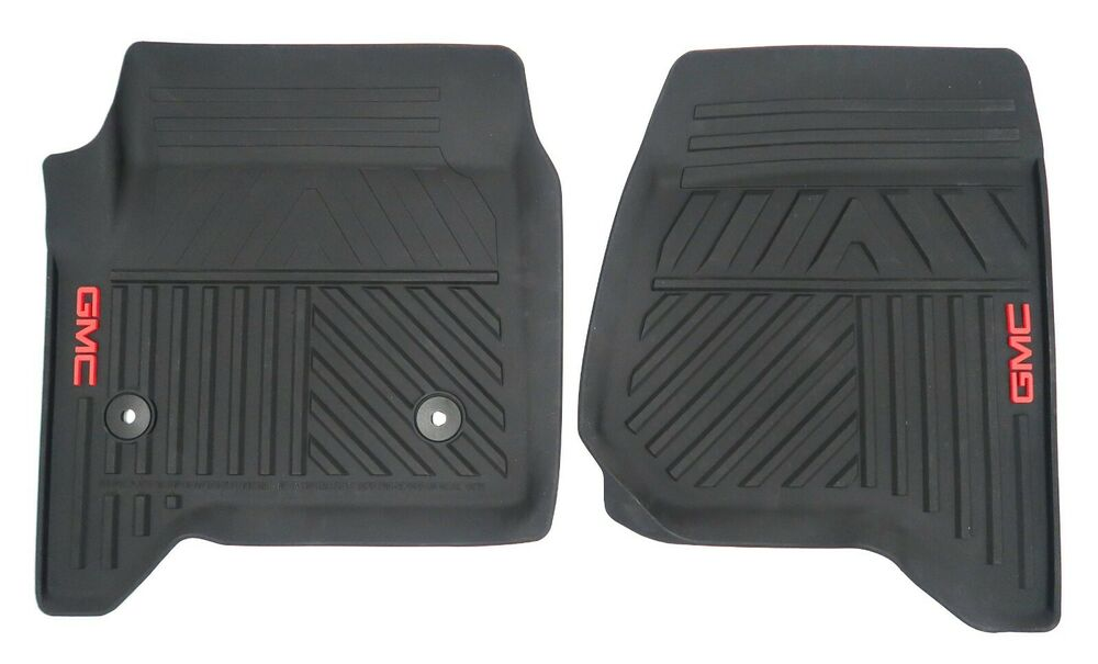 2014 2017 Gmc Sierra Gm Oem Premium All Weather Floor Mats Black New 23452764 Ebay