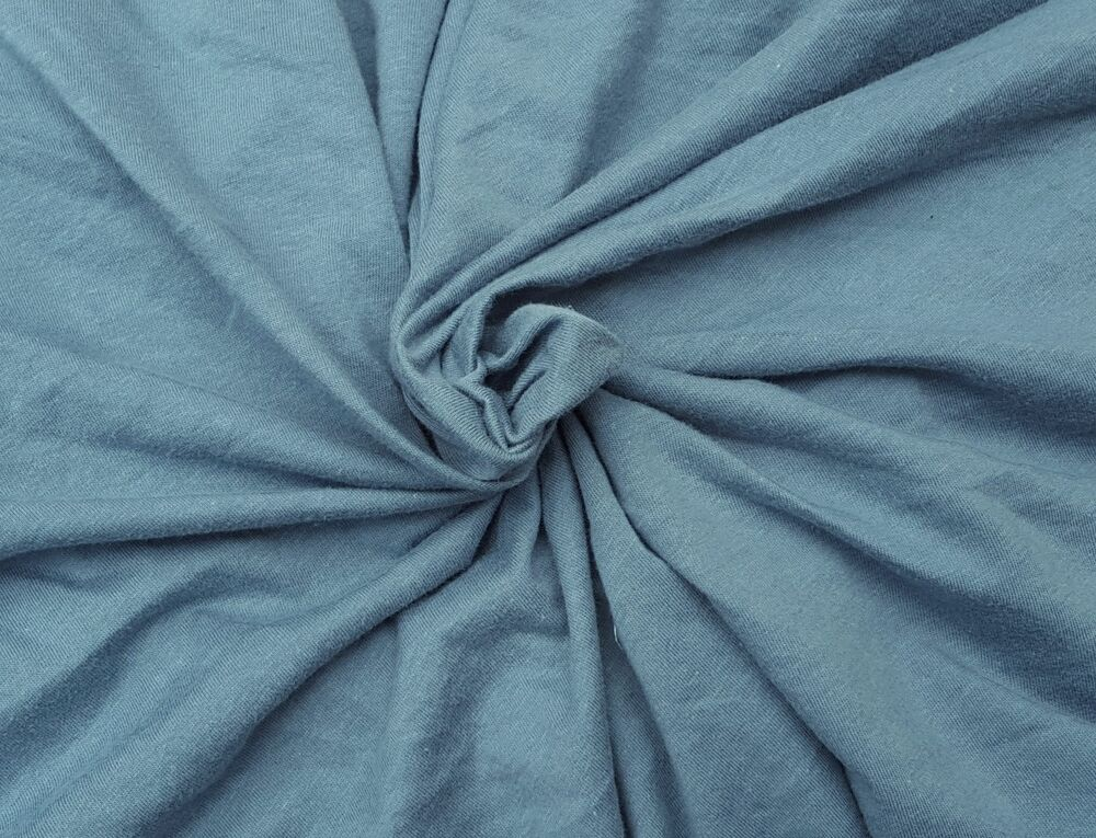 slate blue bamboo cotton fabric jersey knit by the yard 72 w 5 16 ebay. Black Bedroom Furniture Sets. Home Design Ideas