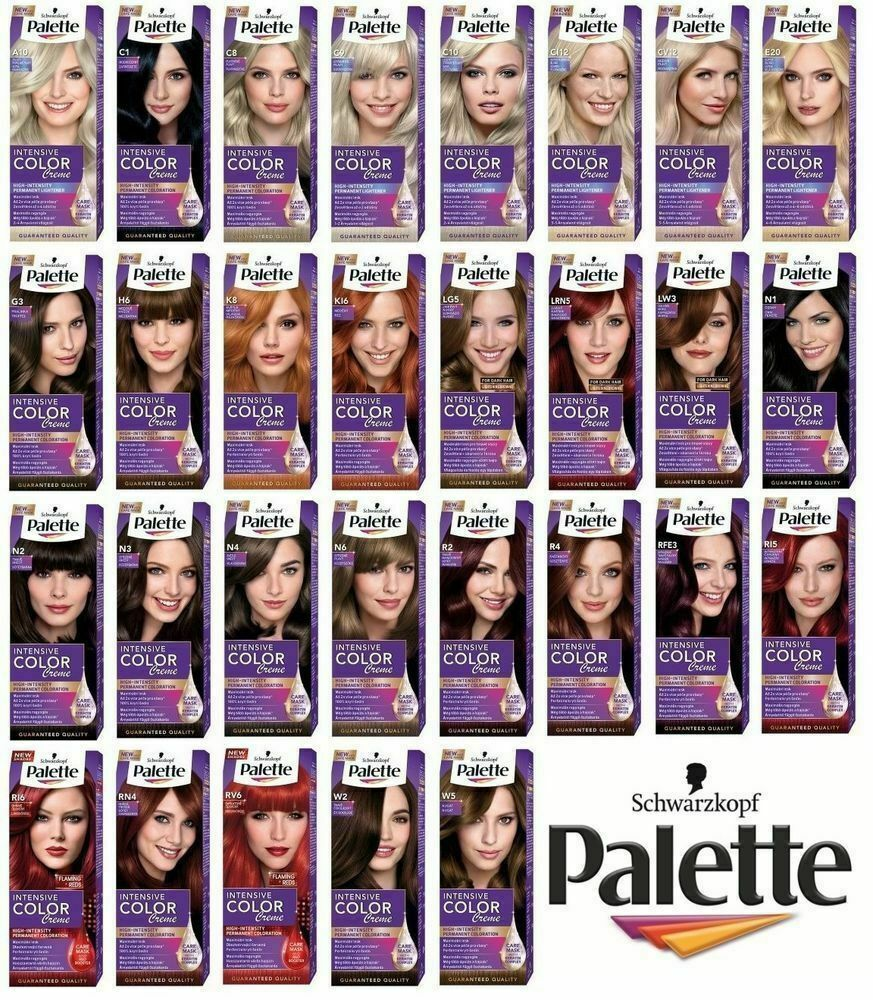 schwarzkopf palette intensive color creme permanent hair dye colour 32 different ebay Icon Hair Accessories  Icon Hair Coloring Cream