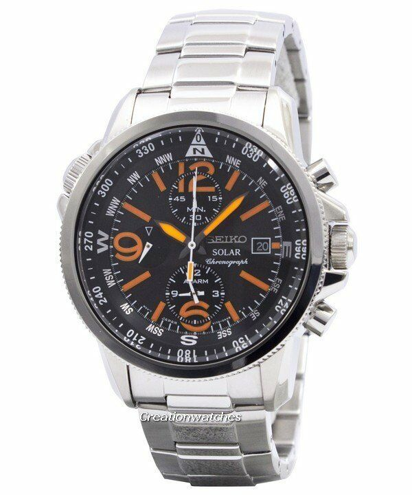 seiko solar chronograph ssc077 ssc077p1 ssc077p mens watch. Black Bedroom Furniture Sets. Home Design Ideas