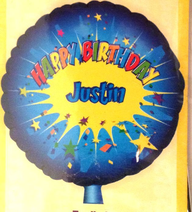 """18"""" Foil Personalized Happy Birthday Kids Party Balloon"""