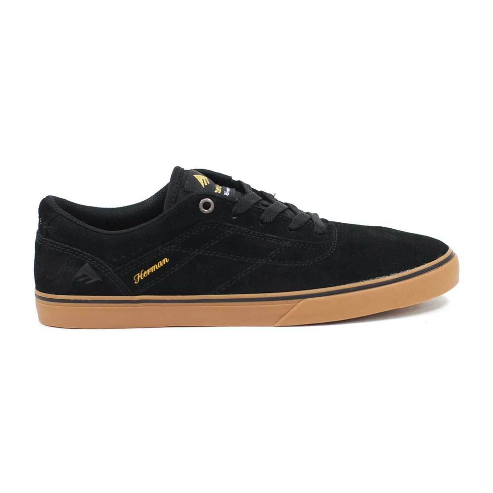 04dc9c23 Details about Emerica The Herman G6 Vulc in Black Gum Shoes All Sizes BNIB  MSRP$65