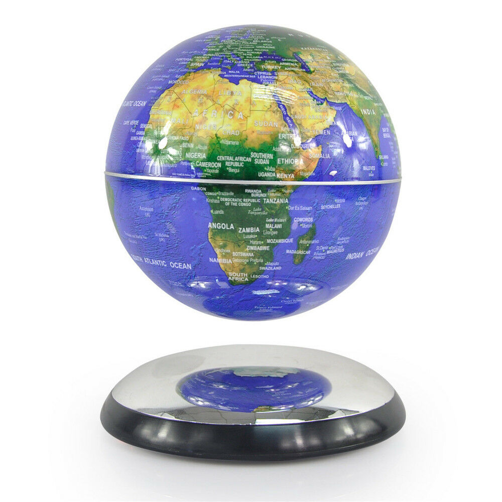 6 inch levitation technology magnetic rotating globe floating levitating earth ebay - Globe main office address ...