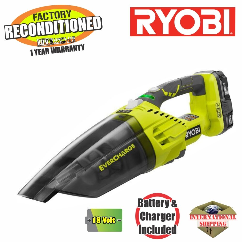 ryobi p714k 18v one plus evercharge hand vacuum zrp714k reconditioned ebay. Black Bedroom Furniture Sets. Home Design Ideas