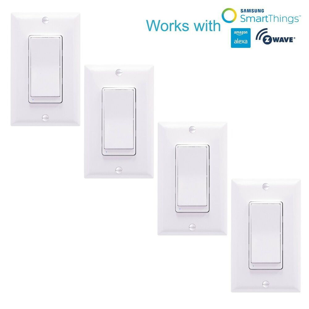 Home Automation Light Control: 4 Pack ZW15S Z-Wave Switch Home Automation Controller
