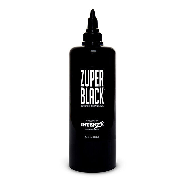 zuper black intenze tattoo ink 12 oz bottle ebay