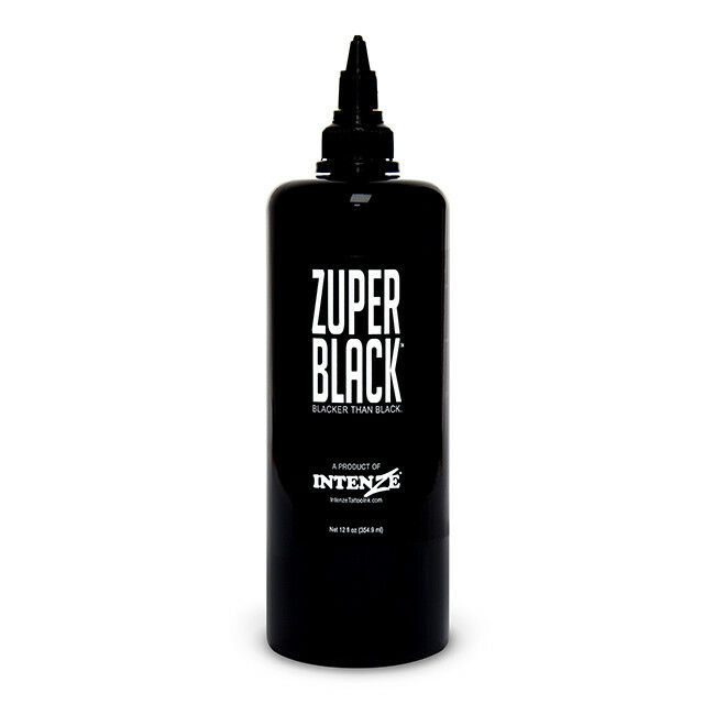 zuper black intenze tattoo ink 12 oz bottle ebay ForZuper Black Tattoo Ink Intenze