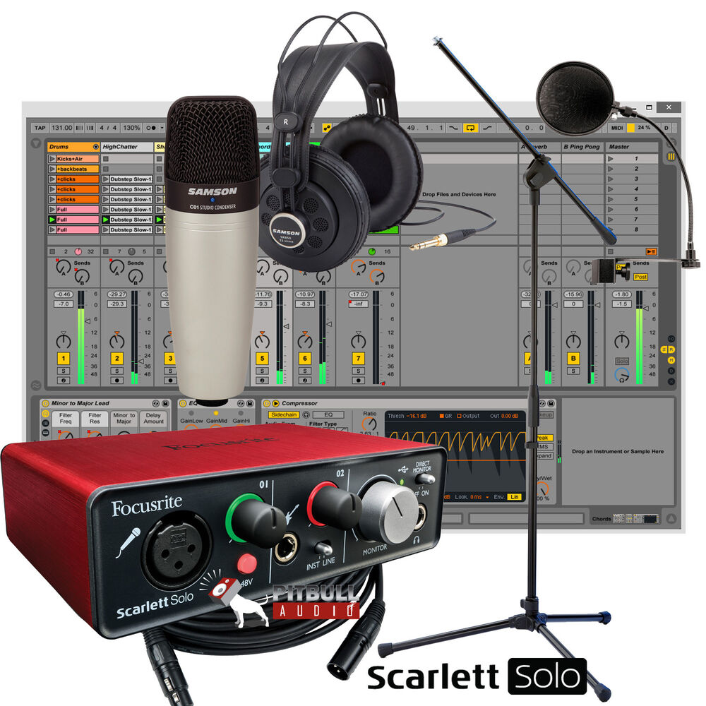 Sensational Focusrite Scarlett Solo 2Nd Usb Samson Mic Stand Home Largest Home Design Picture Inspirations Pitcheantrous
