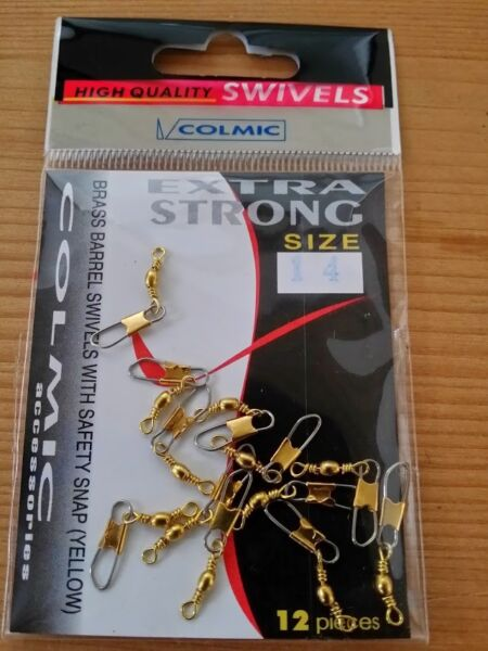 COLMIC GIRELLE CON MOSCHETTONE, SAFETY SNAP / BRASS BARRELL SWIVELS SAFETY SNAP