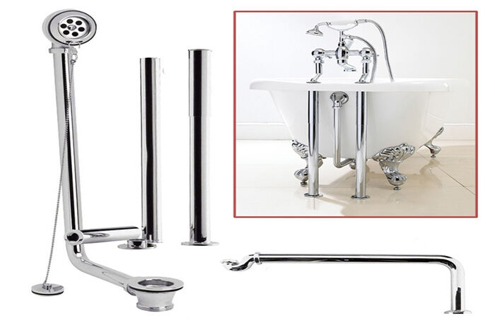 Roll Top Pack Traditional Exposed BATH WASTE KIT In Chrome EBay