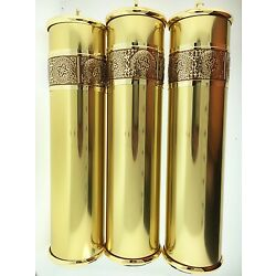 Howard Miller Grandfather Clock Weight Shell Set of 3 with Fancy Embossed Band