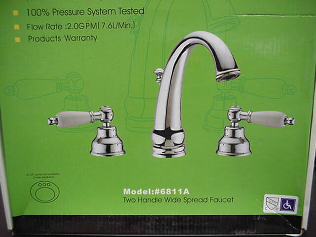 Widespread Bathroom Sink Faucets: Romix Two Handle Widespread Bathroom Faucet Chrome 6