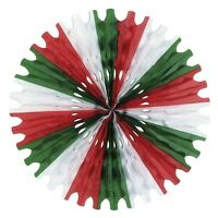"25"" RED WHITE AND GREEN HONEYCOMB TISSUE SNOWFLAKE FAN HANGING DECOR CHRISTMAS"