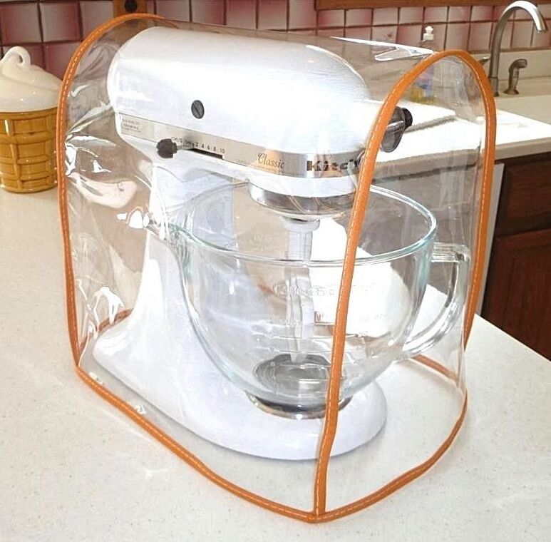 Orange Trim Clear Mixer Cover Fits Kitchenaid Tilt Head Mixers 4 5 5qt Ebay