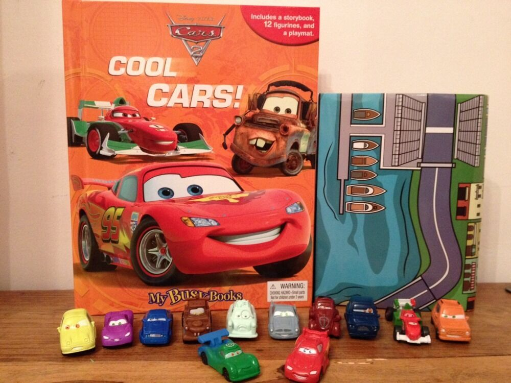 Disney Pixar Cars 2 My Busy Book 12 Character Figurines