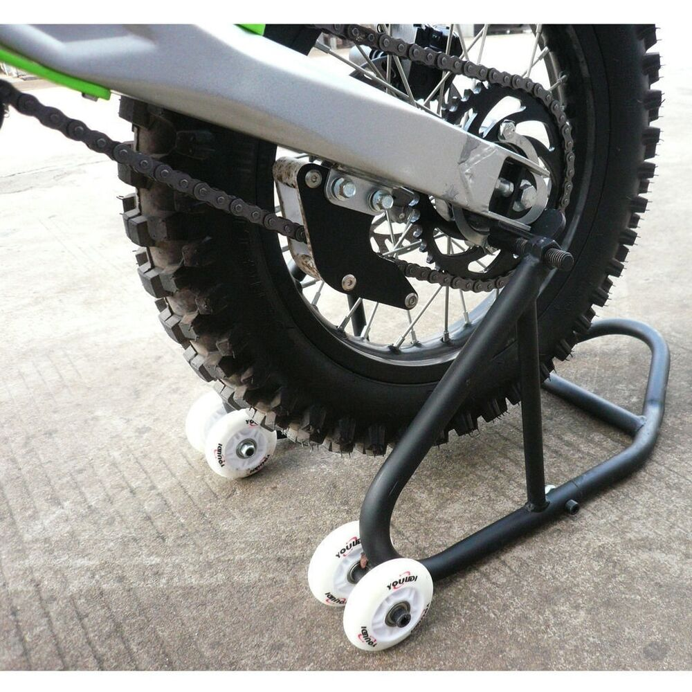 Black Rear Wheel Motorcycle Stand Dirt Pit Bike Stand
