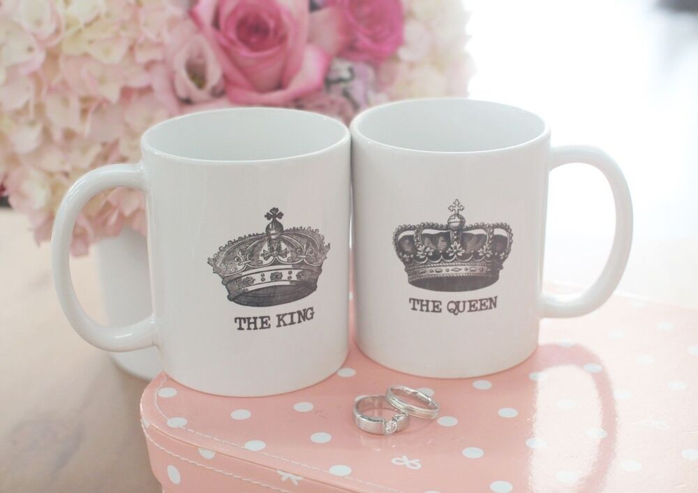 his and hers matching coffee mug cup set the king and. Black Bedroom Furniture Sets. Home Design Ideas