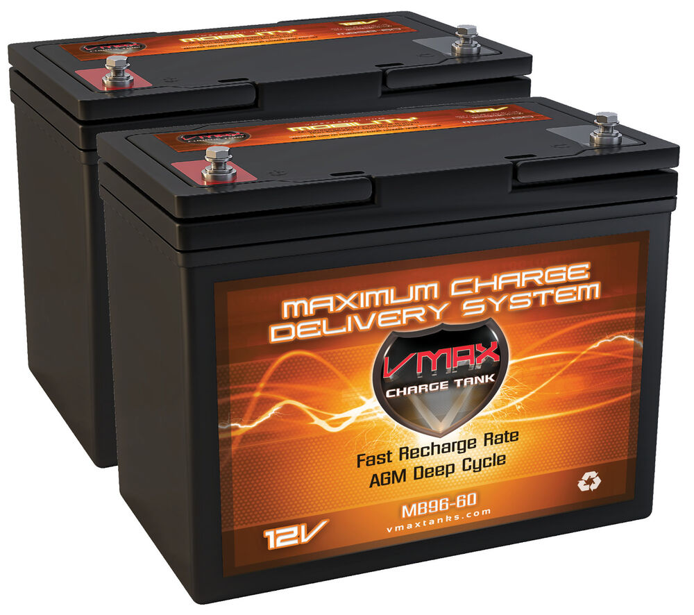2 group 22nf agm 12 volt 60ah batteries vmax mb96 for 24v. Black Bedroom Furniture Sets. Home Design Ideas