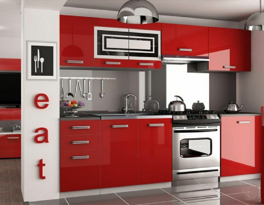 Cheap kitchen units/cabinets High Gloss . Complete set 240 ...