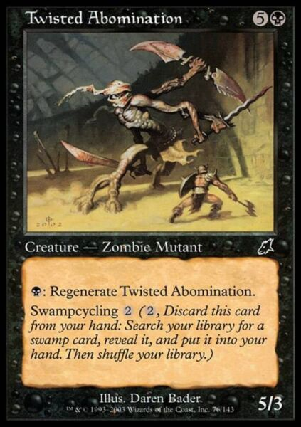 ABOMINIO FOLLE - TWISTED ABOMINATION Magic SCG Mint