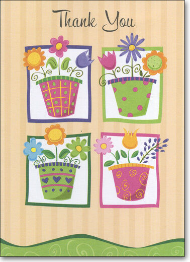 flower pots  box of 25 thank you note cardsps