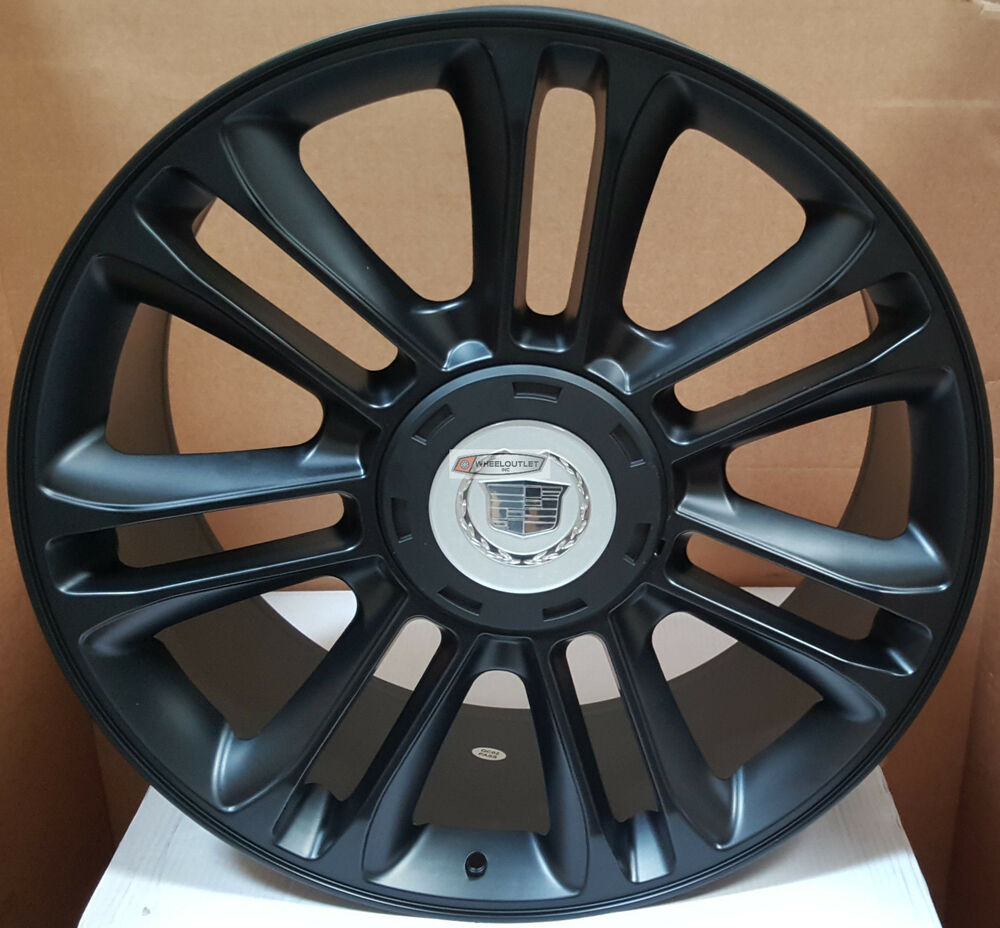 Used Cadillac Escalade Parts For Sale: 24 Wheels Cadillac Escalade Platinum Style Matte Black Rims EXT ESV Sale