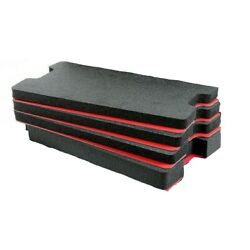 1510 tool foam inserts for Pelican 1510 - 4 Black foam with red Hard plastic