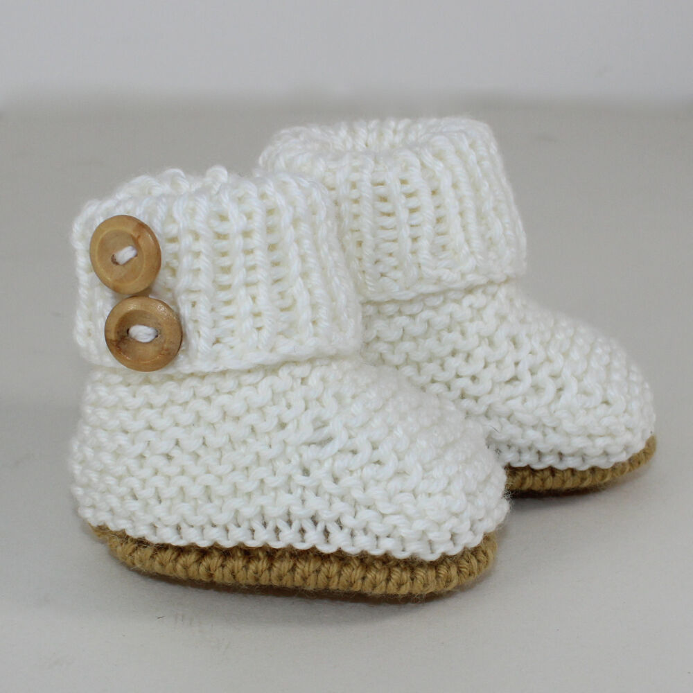 KNITTING INSTRUCTIONS-BABY SIMPLE UNISEX BOOTIES BOOTEES BOOTS ...