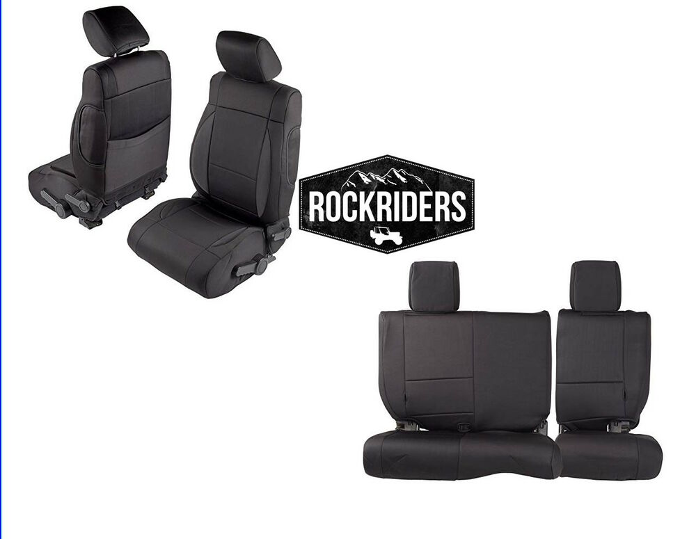 Neoprene Jeep Seat Covers >> 2013-2017 Jeep Wrangler Unlimited 4 Door Neoprene Seat ...