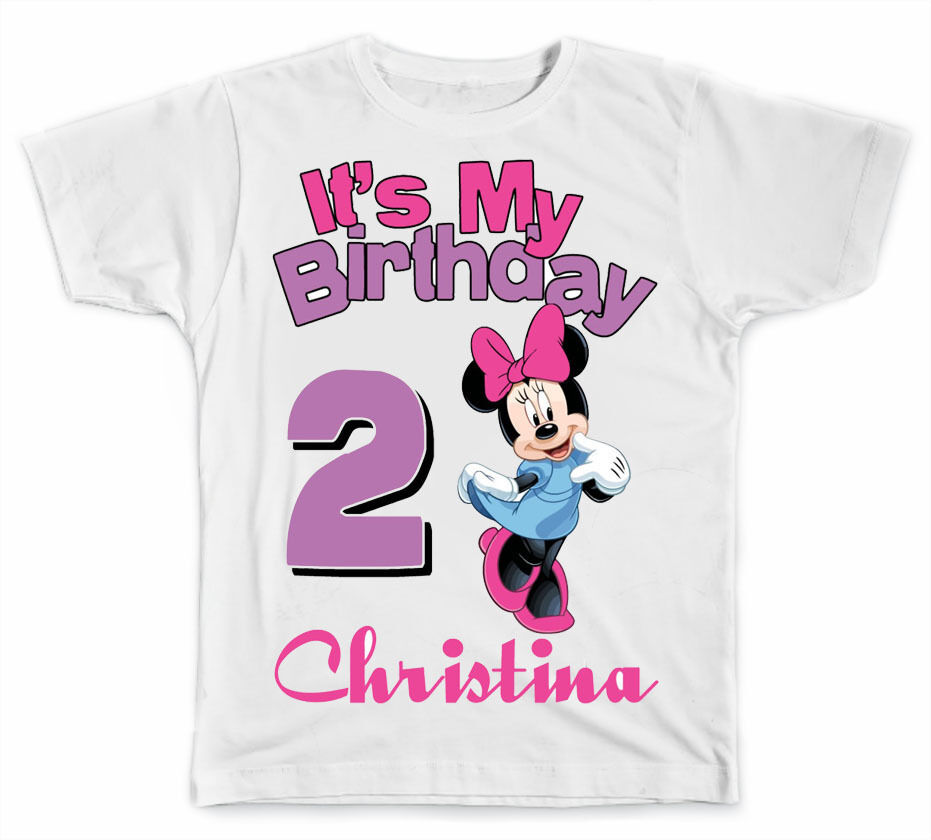 Details About Personalized Its My Birthday Disney Minnie Mouse T Shirt