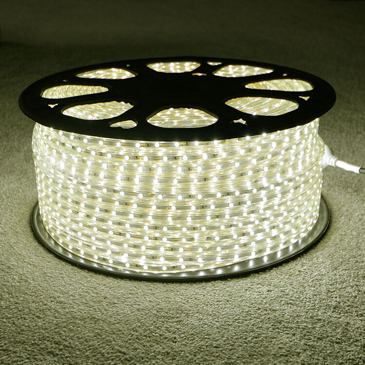 Led Waterproof Strip Lights White Flexible Rope Lighting: Warm White LED Strip 220V 240V IP68 Waterproof 3528 SMD