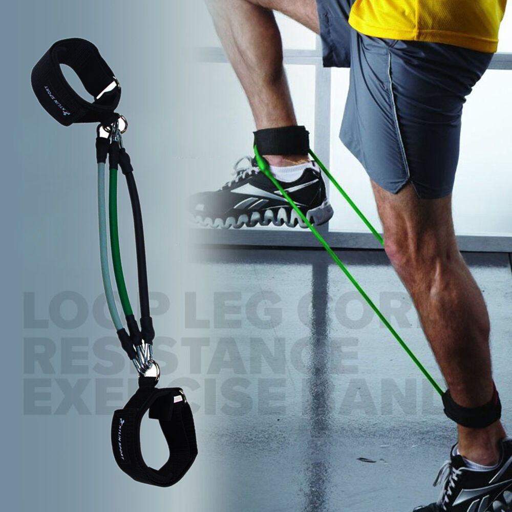 Resistance Bands Workout On: 3X Leg Thigh Muscle Training Resistance Band Fitness