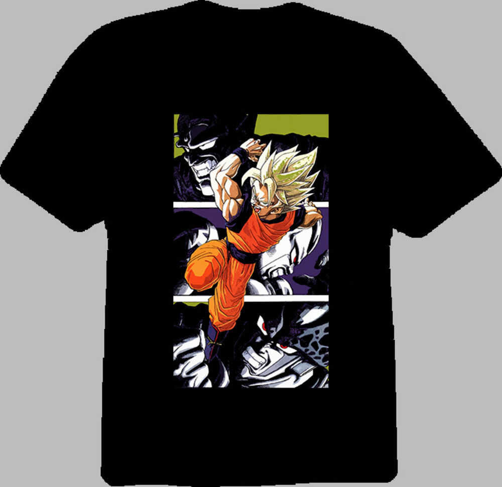 dragon ball z goku piccolo freeza cell t shirt ebay. Black Bedroom Furniture Sets. Home Design Ideas