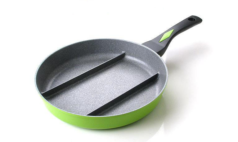 Non Stick Divided Frying Pan Magic Stone Coating 260mm Ebay