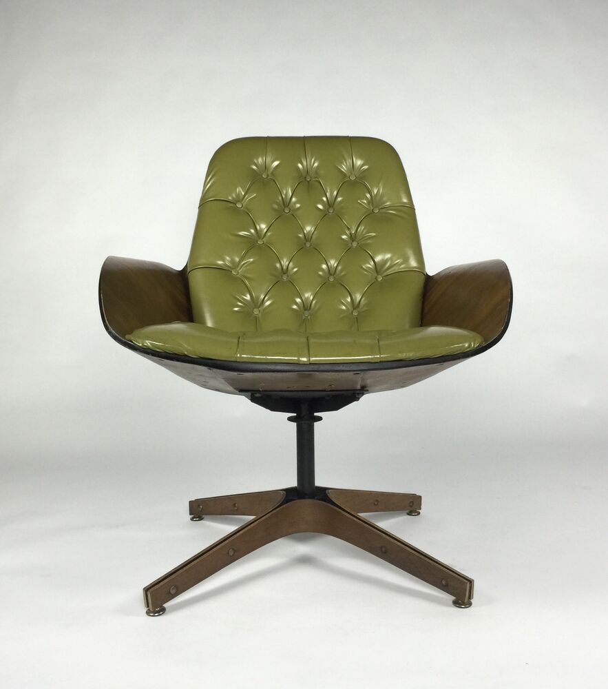 Mr Chair By George Mulhauser For Plycraft Green Walnut