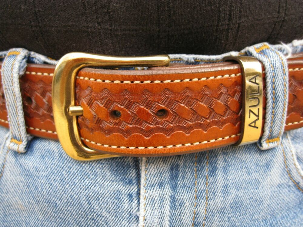 azula leather lined gun belt concealed carry w brass