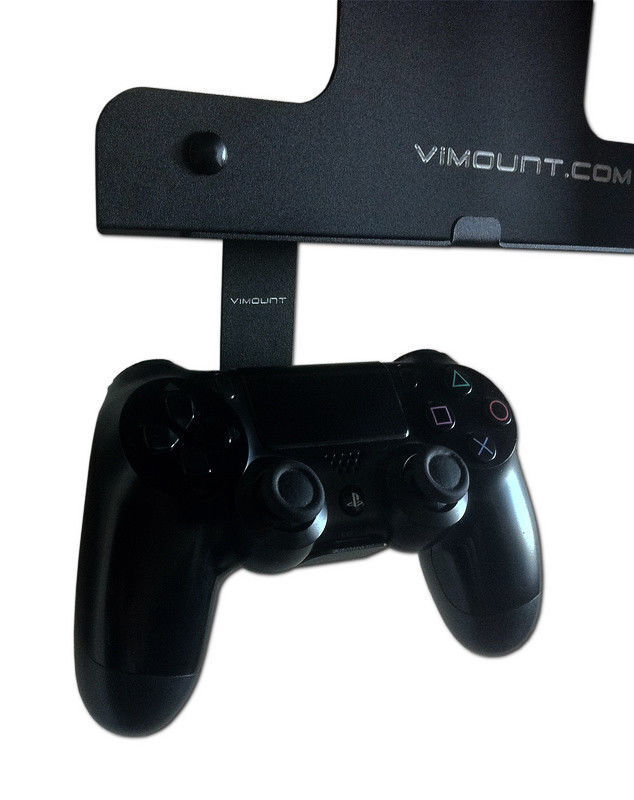2pcs Black Metal Wall Mount Holder For Playstation 4 Ps4