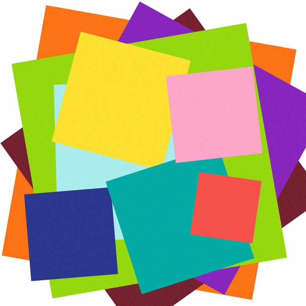 Multi colored cardstock paper - Quality Square Cardstock Paper Choose Color How Many Size 3x3 4x4 And More Ebay