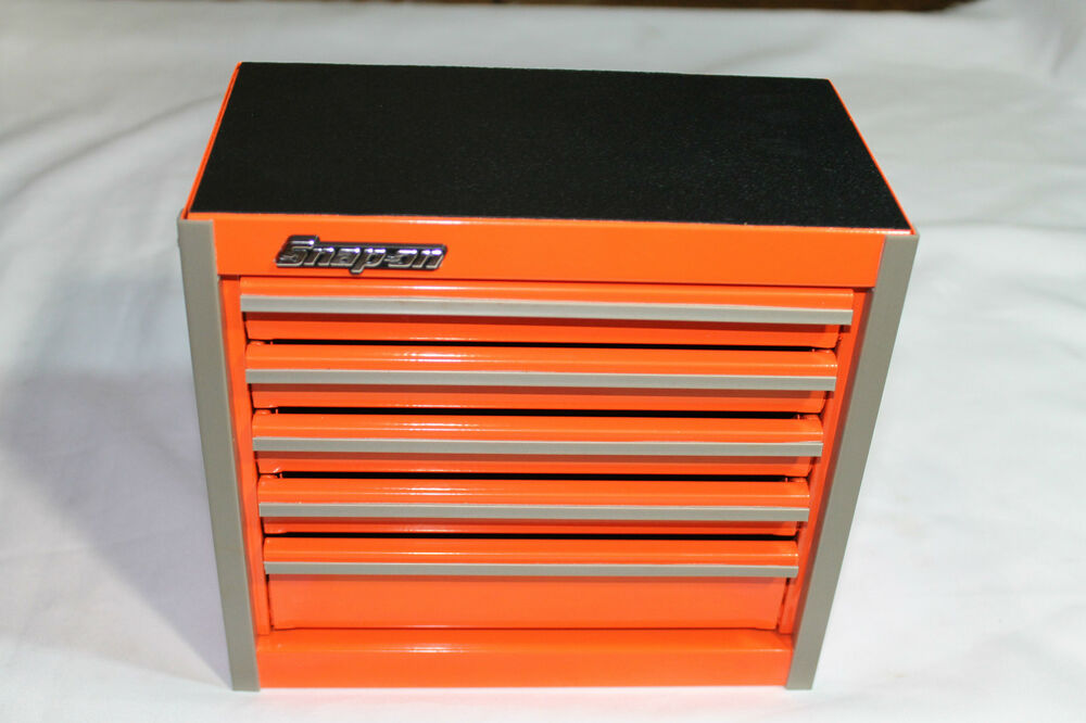snap on electric orange mini bottom roll cab tool box rare brand new ebay. Black Bedroom Furniture Sets. Home Design Ideas