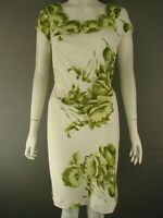BNWT MINUET PETITE IVORY AND GREEN FLORAL PRINT DRESS SIZE 10/12/14 - RRP £130
