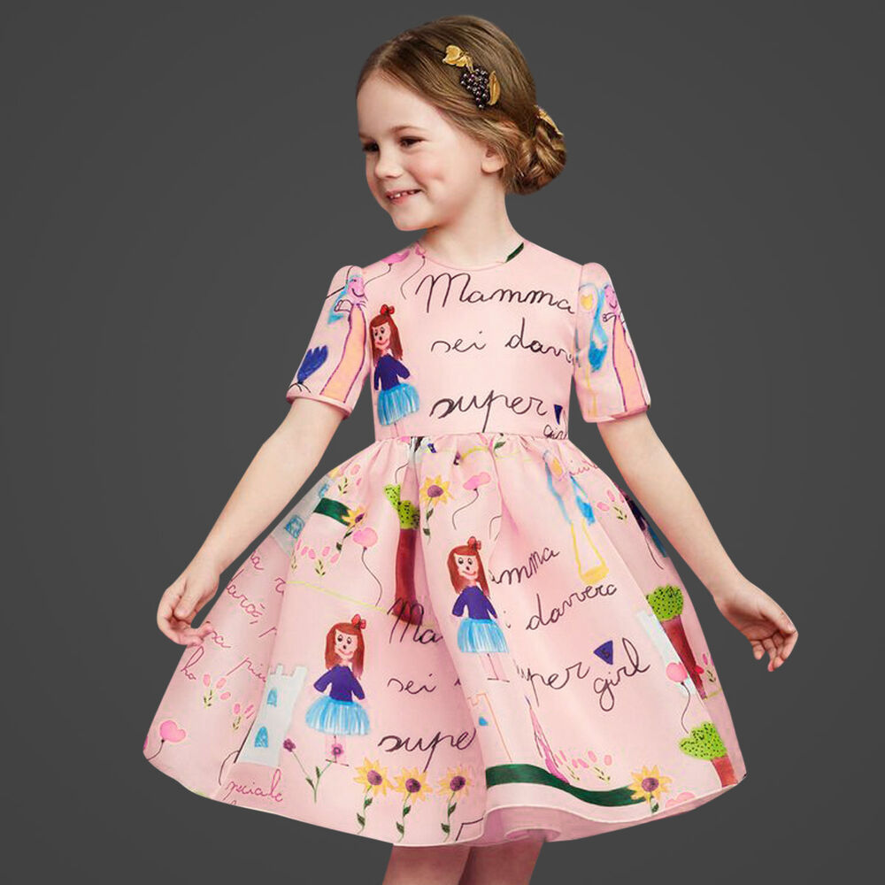 Flower Toddler Baby Girl Dress Kids Party Pageant Princess
