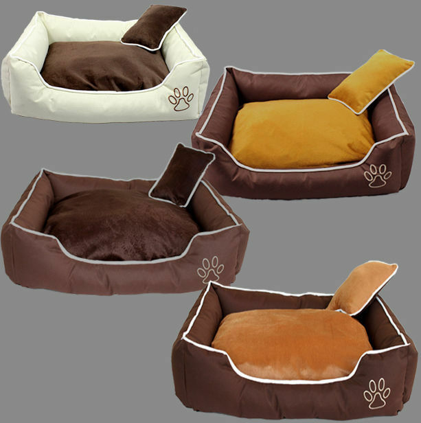 hundebett mit kissen m xxxl hundekorb hundesofa hunde polyester bett ebay. Black Bedroom Furniture Sets. Home Design Ideas
