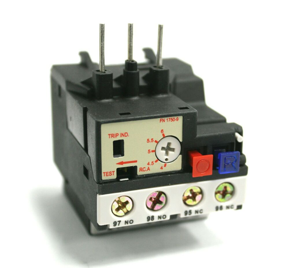 Overload relay rhn5a thermal motor protection 4 0 6 0a ebay for Thermistor motor protection relay