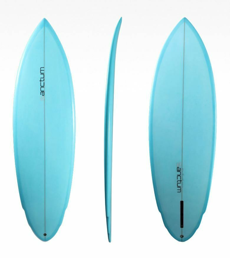 Sanctum surfboard pk retro single fin ebay for Surfboard fin template