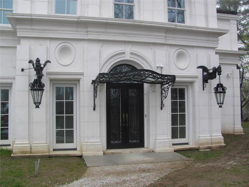 INCREDIBLE VICTORIAN STYLE HAND WROUGHT IRON CANOPY WITH ...