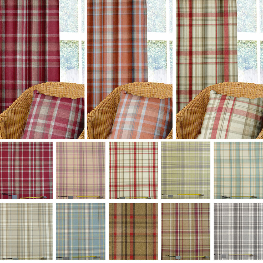 wool effect thick tartan harris plaid upholstery curtain. Black Bedroom Furniture Sets. Home Design Ideas
